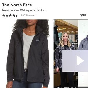 North Face Resolve waterproof jacket / rain coat